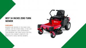 Best 34 Inches Zero Turn Mower 2021
