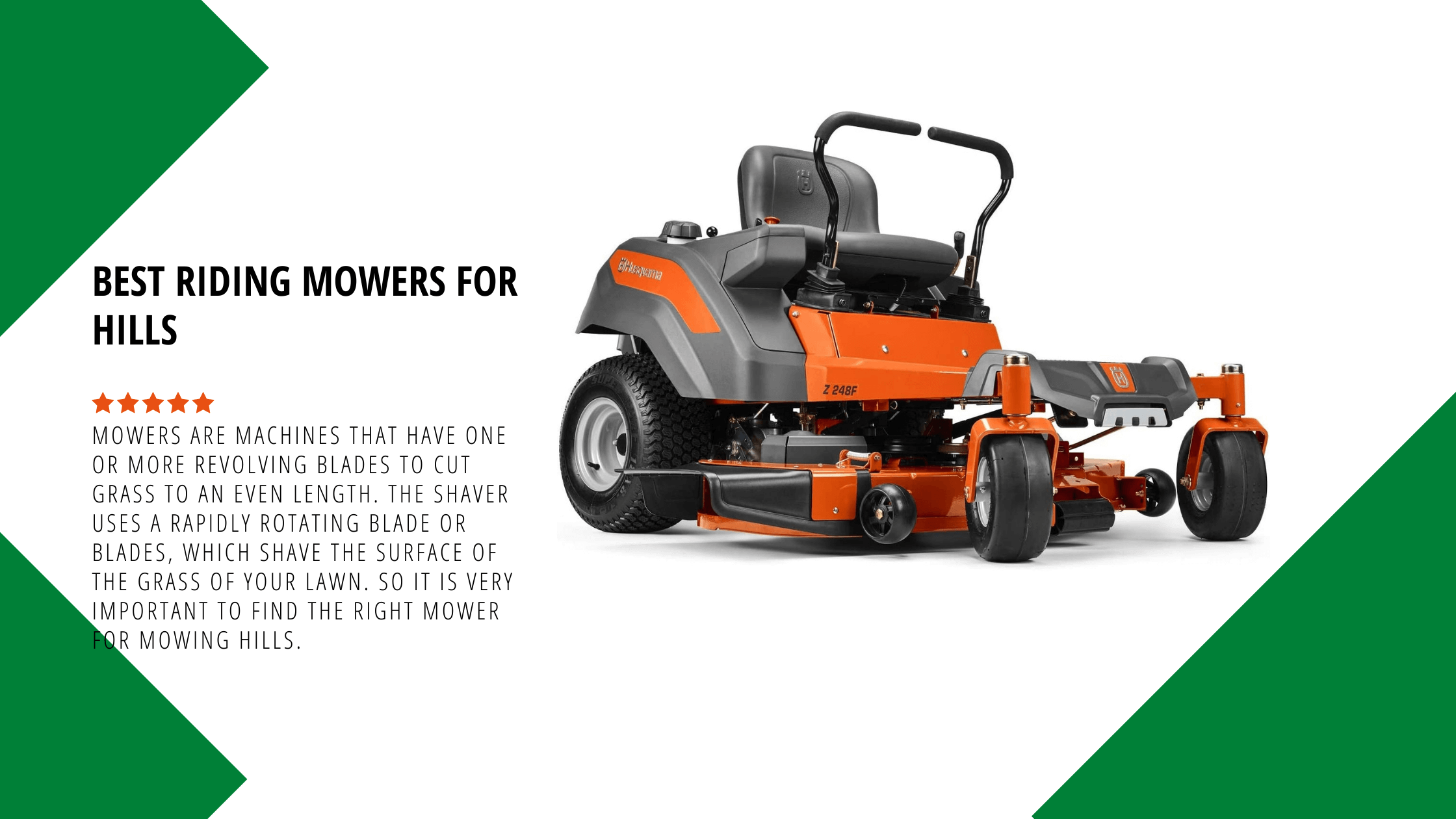 Best Riding Mowers for Hills 2021: Buyers Guide