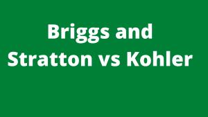 Briggs and Stratton vs Kohler