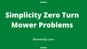 Simplicity Zero Turn Mower Problems